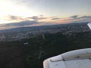 Flying over Frankfurt